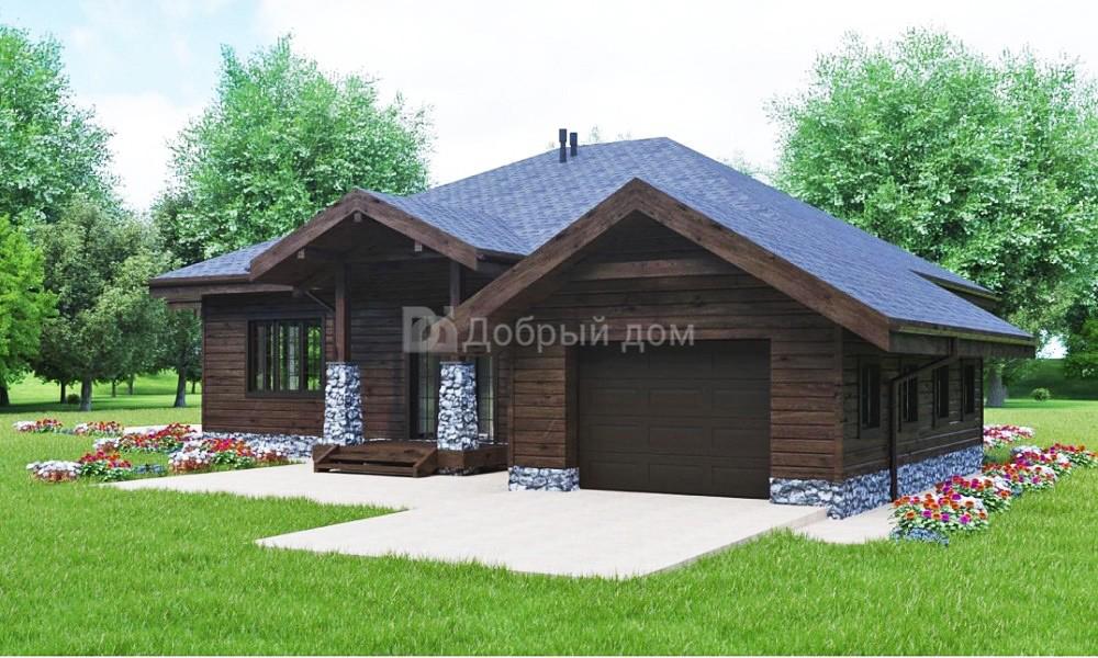 Проект дома 19×19 м. с четырехскатной крышей
