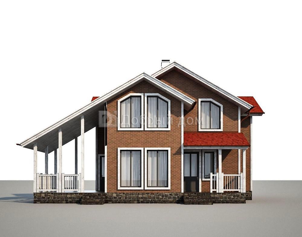 Проект дома 13,2×10,6 м. с четырехскатной крышей