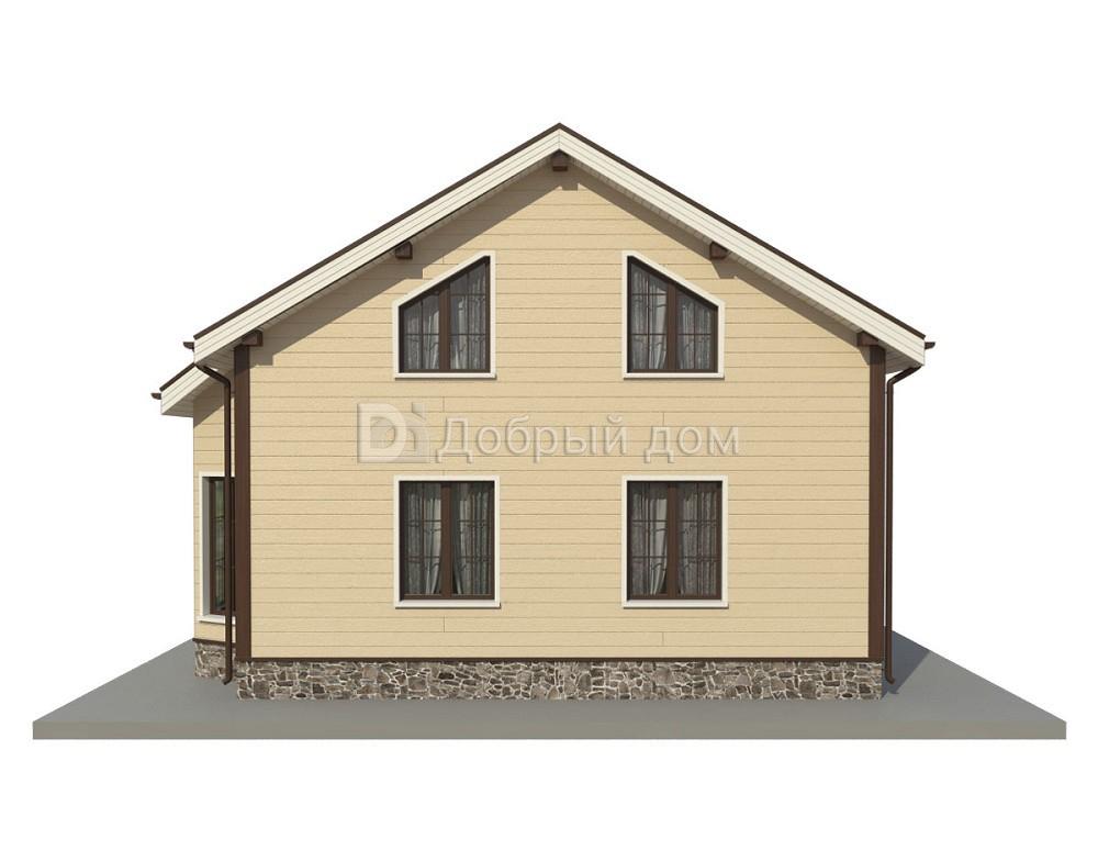 Дом 9×8 м. с двускатной крышей
