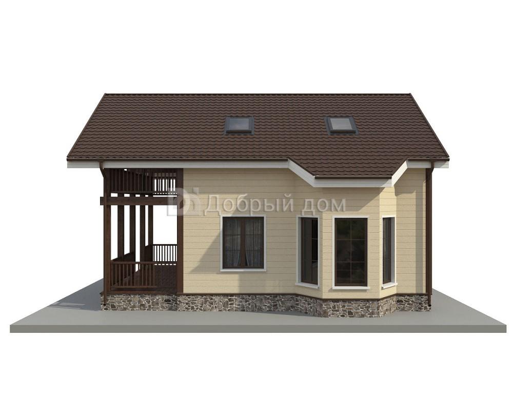 Проект дома 9×8 м. с двускатной крышей