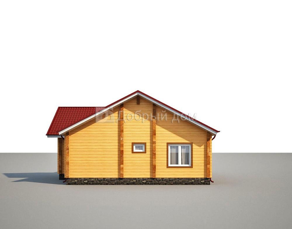 Проект дома 14 м х 11 м с двускатной крышей