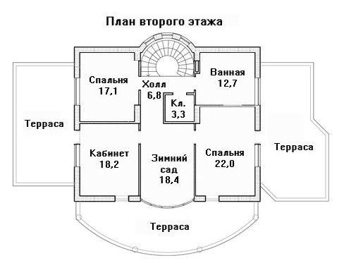 Дом 19,1×13,9 м. с плоская крышей