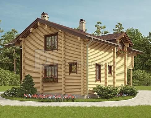 Проект дома 10.2 м х 10.1 м с двускатной крышей