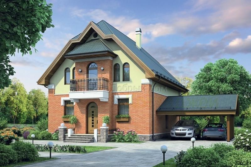 Проект дома 11,8×8,4 м. с мансардной крышей
