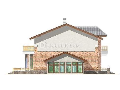 Проект дома 11,9×8,4 м. с двускатной крышей