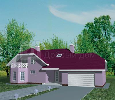 Дом 19,2×9,5 м. с мансардной крышей