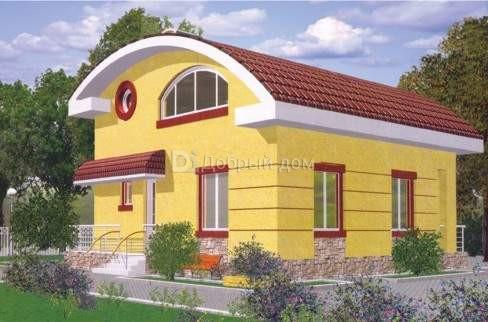 Дом 9,3×9,2 м. с двускатной крышей