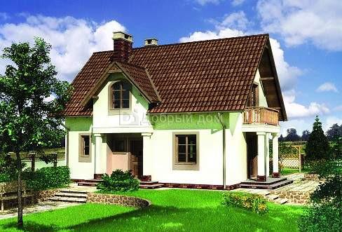 Проект дома 10,1×7,4 м. с двускатной крышей