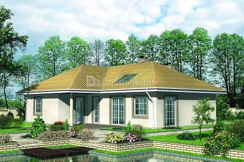 Дом 14,7×13 м. с четырехскатной крышей