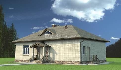 Дом 14,8×9,16 м. с четырехскатной крышей