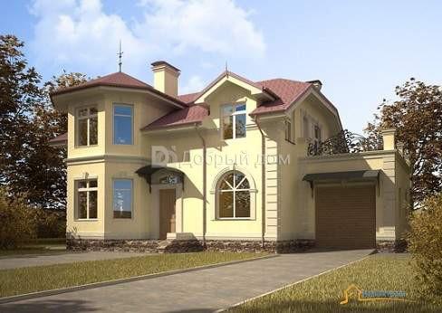 Дом 15,14×11,7 м. с мансардной крышей