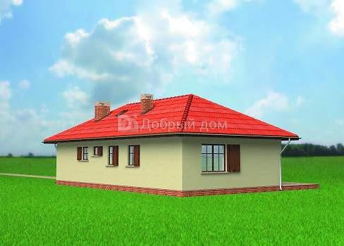 Дом 14,8×13,9 м. с четырехскатной крышей