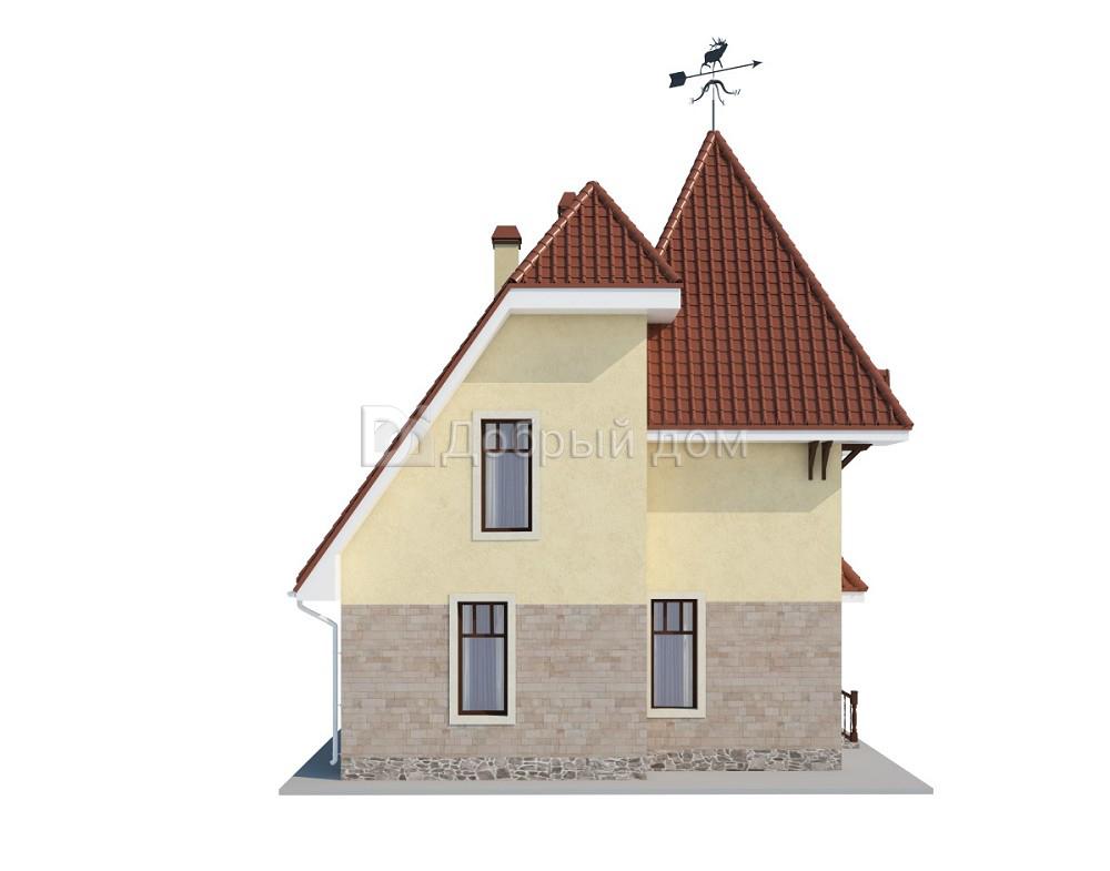 Дом 8,8×8,3 м. с мансардной крышей