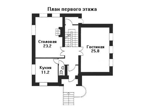 Дом 10,5×10 м. с мансардной крышей