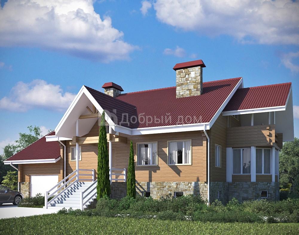 Проект дома 15 м х 10.2 м с мансардной крышей
