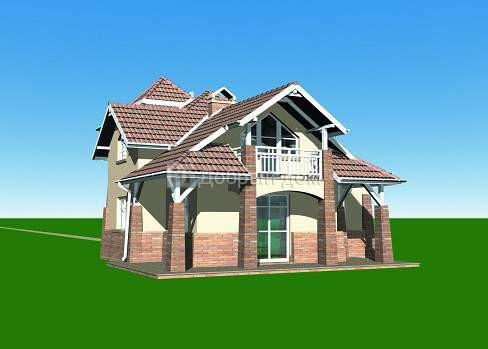 Дом 14×12,4 м. с мансардной крышей