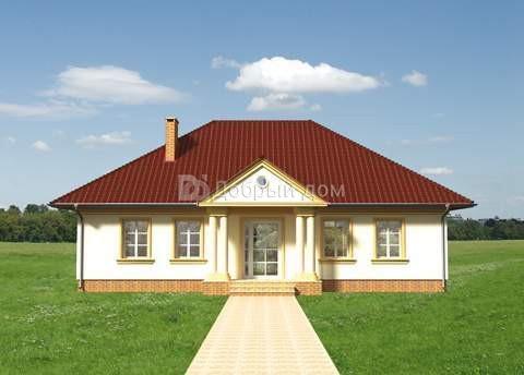 Дом 14,2×9,9 м. с четырехскатной крышей
