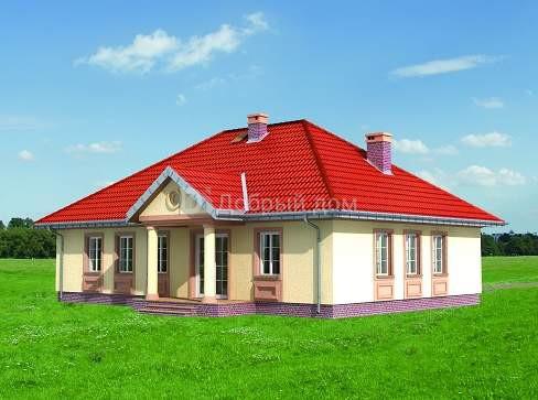 Дом 14,9×10,4 м. с четырехскатной крышей
