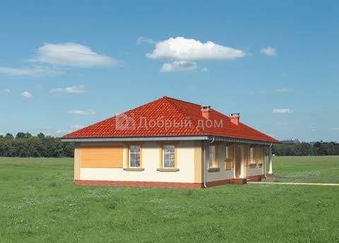 Дом 18,3×9,4 м. с четырехскатной крышей