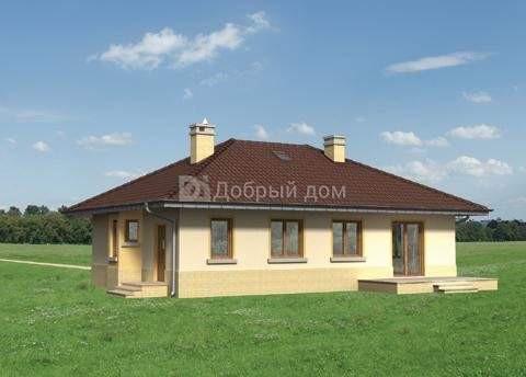 Проект дома 15,1×9,6 м. с четырехскатной крышей