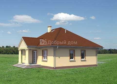 Дом 12,8×9,8 м. с четырехскатной крышей