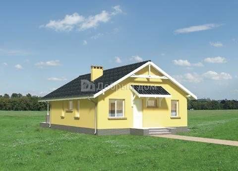 Дом 11,9×8,9 м. с двускатной крышей