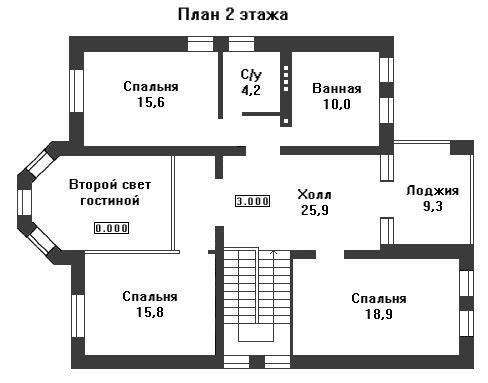 Дом 15,7×11,5 м. с четырехскатной крышей