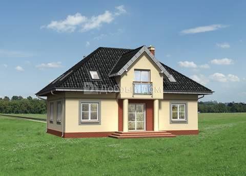 Дом 12,2×8,3 м. с мансардной крышей