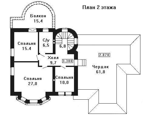 Дом 18,49×15,64 м. с мансардной крышей