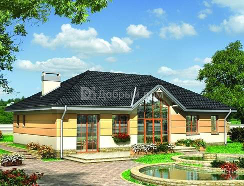 Дом 16×9,5 м. с четырехскатной крышей