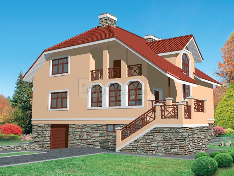Дом 12×10,8 м. с мансардной крышей