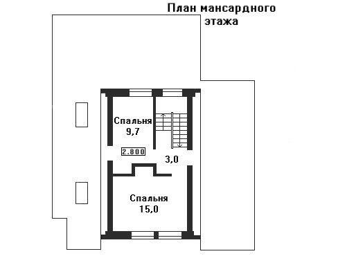 Дом 14,1×13,24 м. с двускатной крышей