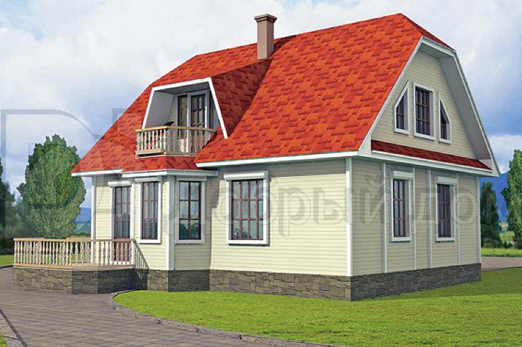 Проект дома 9,9×8,3 м. с мансардной крышей