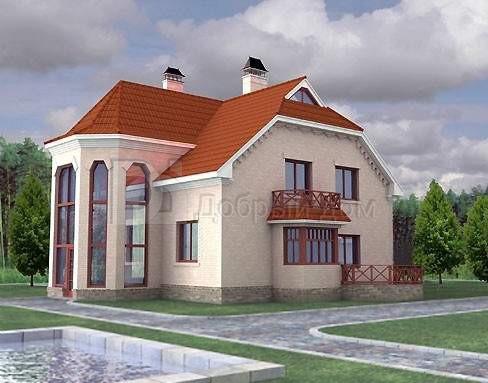 Проект дома 14,2×13,5 м. с мансардной крышей