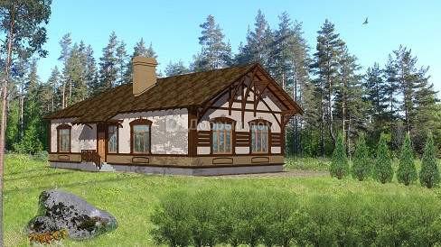 Проект дома 17,7×10,5 м. с двускатной крышей
