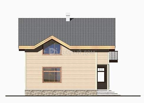 Проект дома 10.2 м х 8.2 м с двускатной крышей