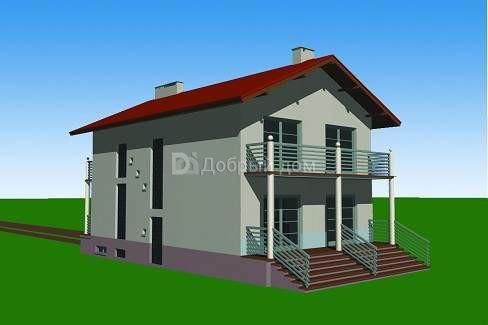 Проект дома 11,6×7,9 м. с двускатной крышей