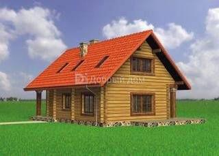 Проект дома 11.2 м х 8.1 м с двускатной крышей
