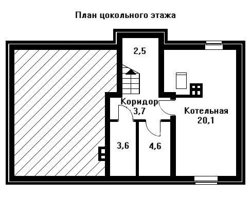 Проект дома 12×7,8 м. с двускатной крышей