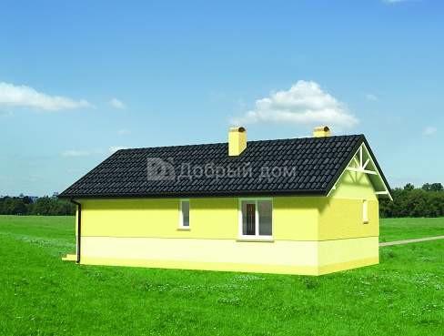 Проект дома 10,9×6,7 м. с двускатной крышей