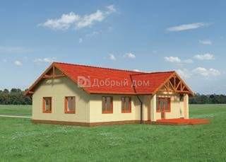 Дом 16,4×10,1 м. с двускатной крышей