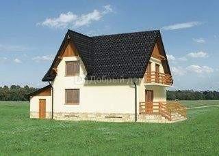 Дом 13,1×8,9 м. с мансардной крышей