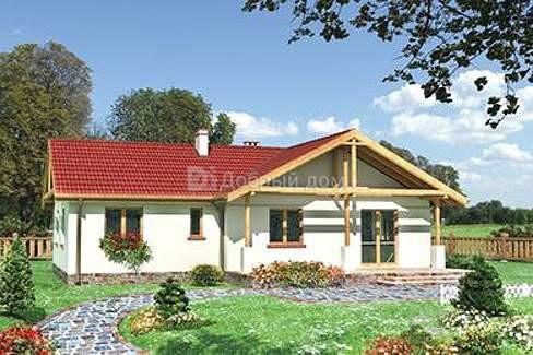 Дом 14,5×10,9 м. с четырехскатной крышей