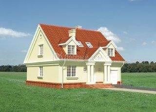 Дом 10,3×10,3 м. с мансардной крышей