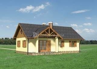 Дом 13,1×9,5 м. с двускатной крышей