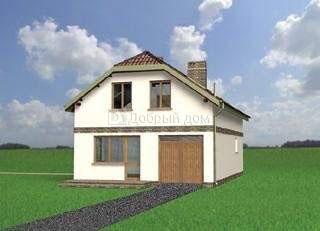 Дом 12,2×7,7 м. с мансардной крышей