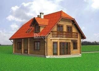 Проект дома 12.2 м х 12.2 м с мансардной крышей