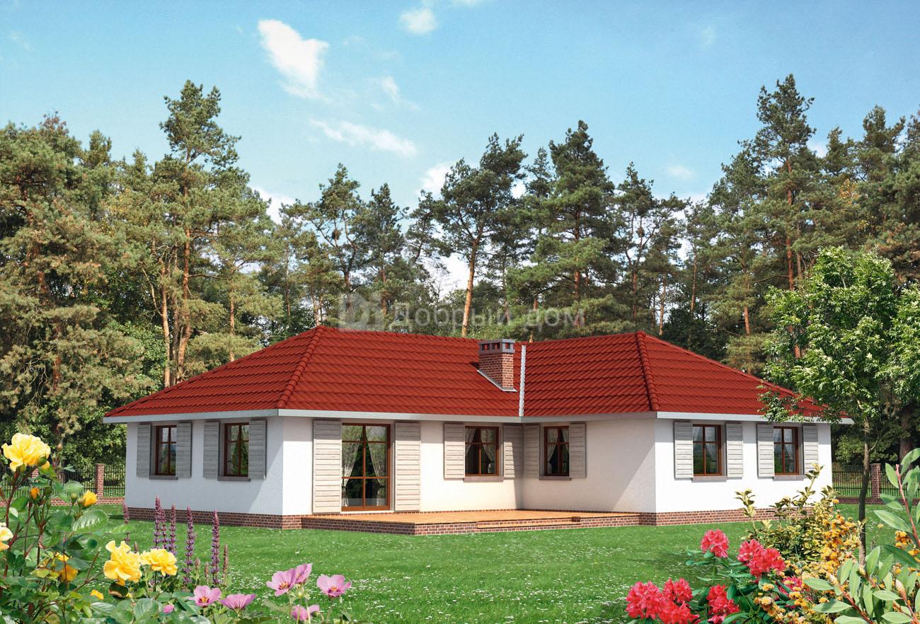 Проект дома 16,6×13,3 м. с четырехскатной крышей