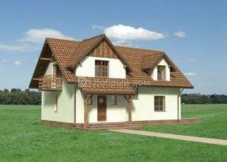 Дом 11,7×8,4 м. с мансардной крышей