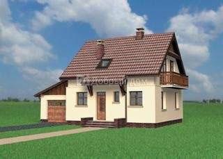 Проект дома 11,5×8 м. с двускатной крышей